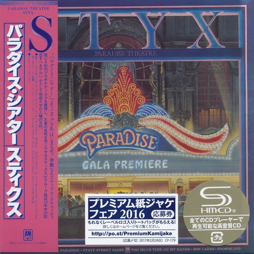 Styx - Paradise Theatre [Japan Mini LP SHM-CD] (2016)