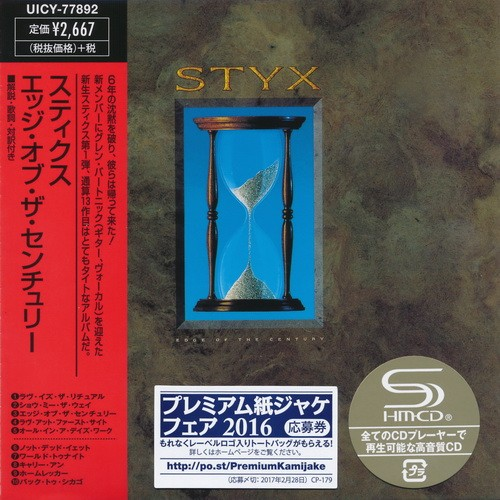 Styx - Edge Of The Century [Japan Mini LP SHM-CD] (2016)
