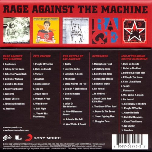 Rage Against The Machine - The Collection (Box Set) (2010)