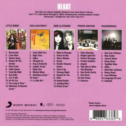 Heart - Original Album Classics (5CD Box Set) (2013)
