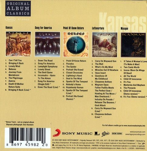 Kansas - Original Album Classics (5xCD BoxSet) (2009)