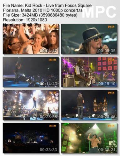 Kid Rock - Live From Fosos Square Floriana, Malta 2010 (BDRip)