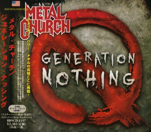 Metal Church - Gеnеrаtiоn Nоthing [Jараnеsе Еditiоn] (2013) [2014]