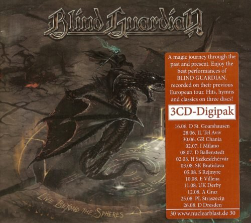 Blind Guardian - Livе Веуоnd Тhе Sрhеrеs [3СD] (2017)