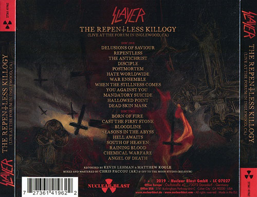 Slayer ‎– The Repentless Killogy (Live At The Forum In Inglewood, Ca) (2019)