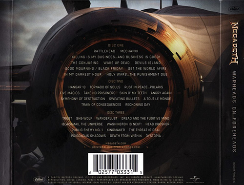 Megadeth - Warheads On Foreheads [3CD] (2019)