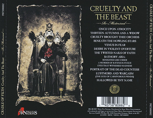 Cradle of Filth - Cruelty and the Beast: Re-Mistressed (2019)