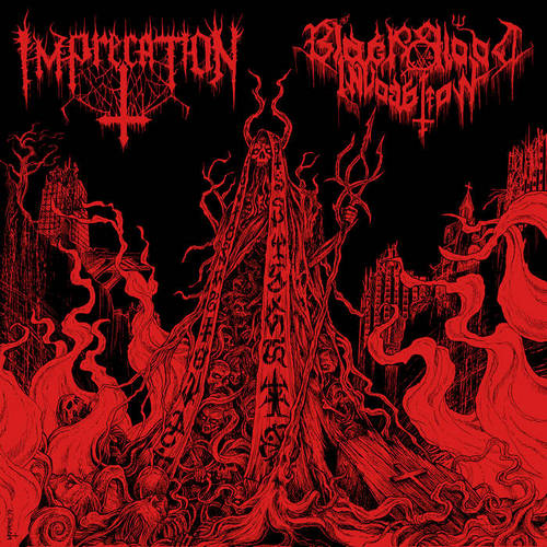 Imprecation / Black Blood Invocation - Diabolical Flames of the Ascended Plague (Split) (2019)