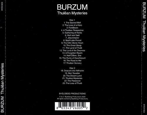 Burzum - Thulêan Mysteries [2CD] (2020)