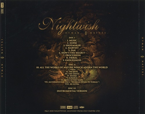 Nightwish - HUMAN. :II: NATURE. [3CD Japanese Edition] (2020)