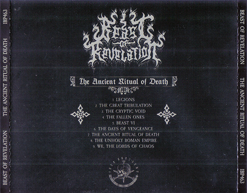 Beast of Revelation - The Ancient Ritual of Death (2020)