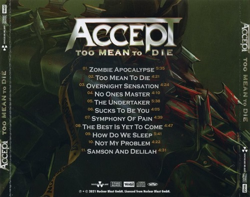Accept - Too Mean to Die (Japanese Edition) (2021)